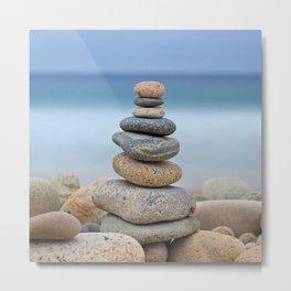 Rock Cairns Balance Photo Print Metal Print