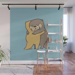 Otter Hugs Wall Mural