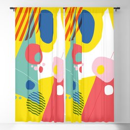 Abstract Pop III Blackout Curtain