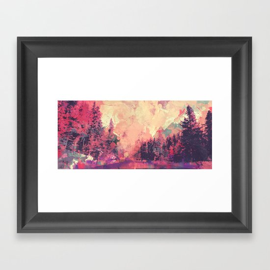 colorful forest Framed Art Print