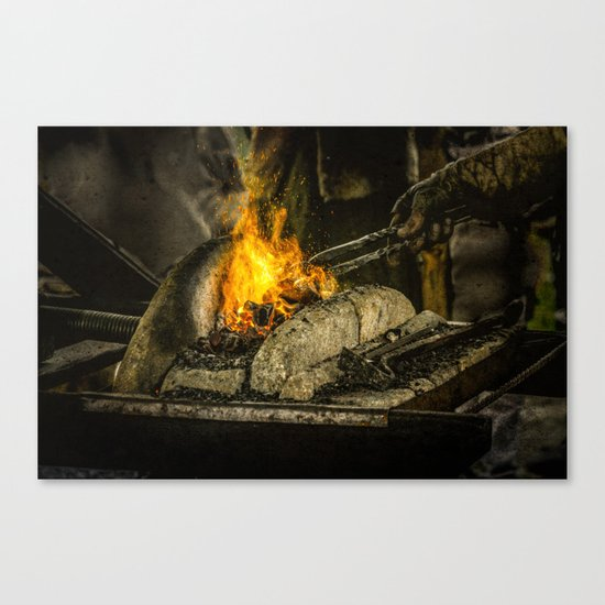 Hot working Canvas Print