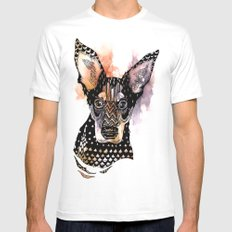 Lexy White MEDIUM Mens Fitted Tee