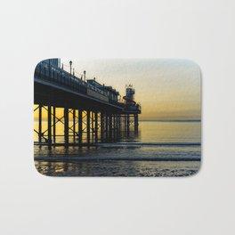 Paignton Pier At Sunrise Bath Mat