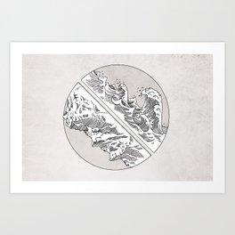 Mountains // Waves Art Print