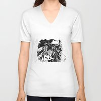 moth V-neck T-shirts featuring Moth by Shane R. Murphy