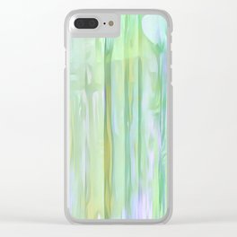 Cool Waves Of Color Abstract Clear iPhone Case