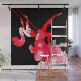 "Art Deco Illustration ""Trapeze"" Wall Mural"