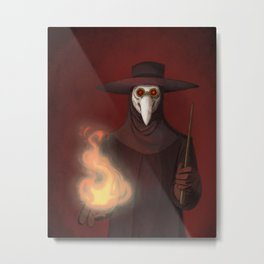The Plague Doctor Metal Print