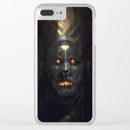blue priest Clear iPhone Case