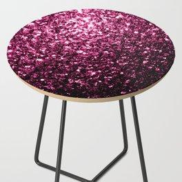 Beautiful Dark Pink glitter sparkles Side Table