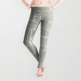 African Sand Tribal Mud Cloth Leggings