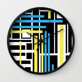 geometric art 1 Wall Clock