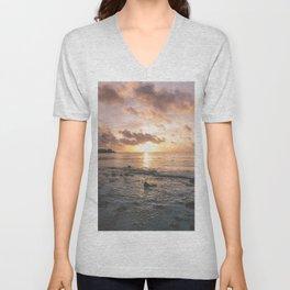 Caribbean Sea, Mayan Riviera Unisex V-Neck
