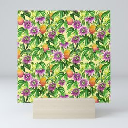 Passiflora vines Mini Art Print