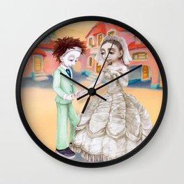 Wedding in Iristown Wall Clock