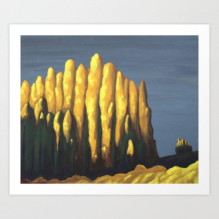 Late Autumn Sunset Art Print