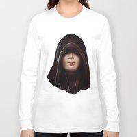 mass effect Long Sleeve T-shirts featuring Mass Effect: Kasumi Goto by Ruthie Hammerschlag