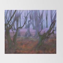 Petrified Willows Throw Blanket