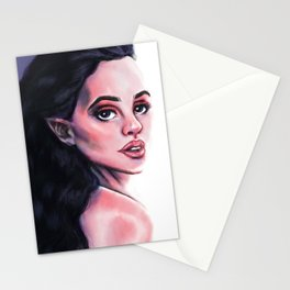 Violet Hair Stationery Cards