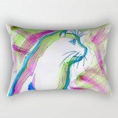 Cat of Color Rectangular Pillow