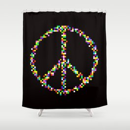 A Peace of Retro Shower Curtain