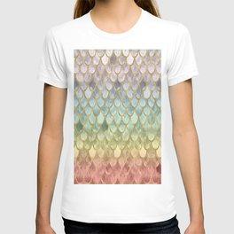 Rainbow Marble Mermaid Scales T-shirt
