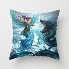 Blue Angel Throw Pillow