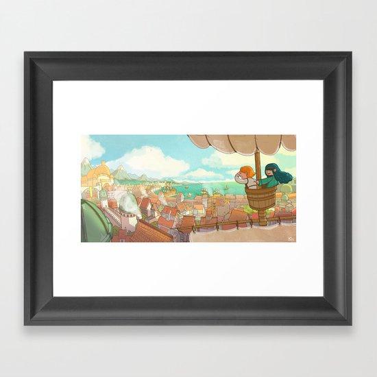 The Little Scribe: The City! Framed Art Print