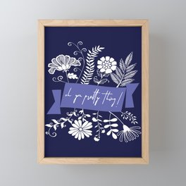 oh you pretty thing Framed Mini Art Print