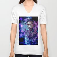 doctor V-neck T-shirts featuring Doctor ? by Sirenphotos