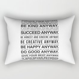 Forgiveness Manifesto Rectangular Pillow