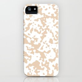 Spots - White and Pastel Brown iPhone Case