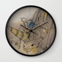 Embellished Rhino Wall Clock