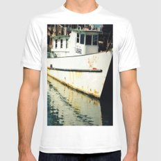 Bayside White Mens Fitted Tee MEDIUM