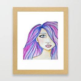 Color Girl Framed Art Print