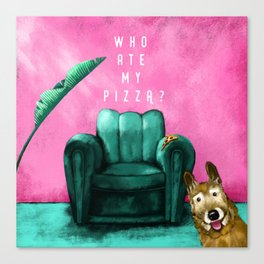 Who ate my pizza? Canvas Print