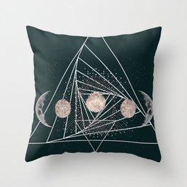 Moon Matrix Throw Pillow