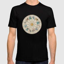 Vintage Astrology Zodiac Wheel T-shirt