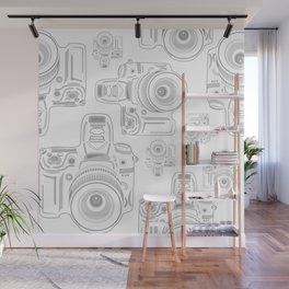 Grey Cameras Wall Mural