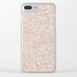 Beige jersey cloth texture abstract Clear iPhone Case