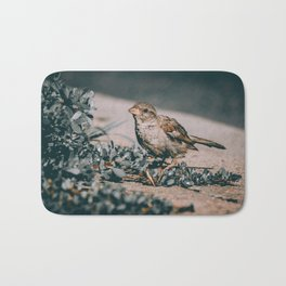 Summer Sparrow. Bird Photograph Bath Mat
