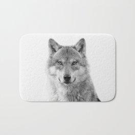 Wolf Portrait Bath Mat