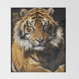 Tiger, Tiger - Big Cat Art Design Throw Blanket