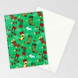 Christmas, Stockings Stationery Cards