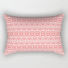 Dividers 07 in Red over White Rectangular Pillow