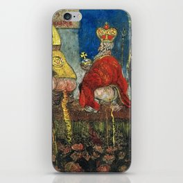 Doctrinal Nourishment (World Powers, Religion, Big Business) portrait painting by James Ensor iPhone Skin