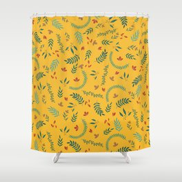 Leves in Yellow Ochre Shower Curtain