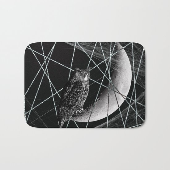 Moon owl Bath Mat