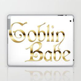 Labyrinth Goblin Babe (white bg) Laptop & iPad Skin