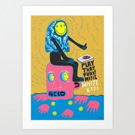 Funky kid Art Print